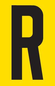 Tower Adhesive Letter Sign - Large R