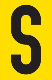 Tower Adhesive Letter Sign - Large S