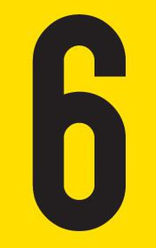 Tower Adhesive Number Sign - Large 6