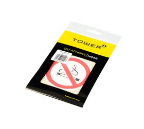 Tower No Smoking Stickers (Pack of 2)
