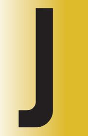 Tower Adhesive Reflective Letter Sign - Medium J