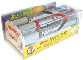 Pentel Maxiflo 4.0mm Bullet Tip Whiteboard Marker Magnetic Duster Set