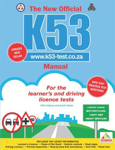 the new offcial k53 manual buy online in south africa takealot com rh takealot com k53 learners manual free download K53 Learners Test Questions