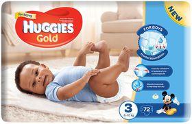 Huggies - Gold Boy - Size 3 - 72 Nappies (6-10kg)
