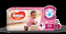 Huggies - Gold Girl- Size: 4 + (12-16kg)
