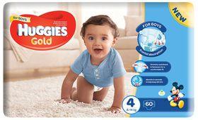 Huggies - Gold Boy - Size: 4 - 60 Per Pack (8-14kg)
