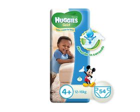 Huggies - Gold Boy - Size: 4 - 54 Per Pack (12-16kg)
