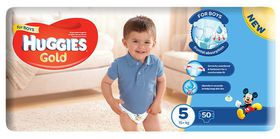 Huggies - Gold Boy - Size: 5 - 50 Per Pack (15+ kg)