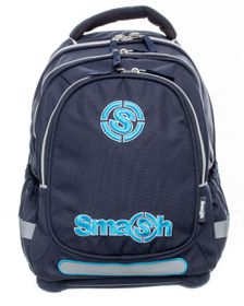 Smash Orthopedic Super Light 3 Division Plain Backpack - Navy
