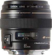 Canon 85mm f1.8 EF USM lens