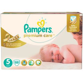 Pampers - Premium Care 88 Nappies - Size 5 Mega Pack
