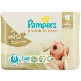 Pampers - Premium Care 30 Nappies - Size 0 Carry Pack