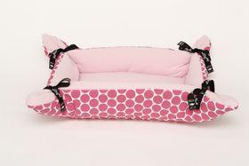 Wagworld - Tiny Cupcake Dog Bed - Pink Polka Dot
