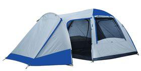 OZtrail Tasman 4V Plus 4-Person Tent - Silver and Blue