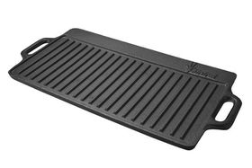 Afritrail - Dual BBQ/Griddle Pan Large - Black