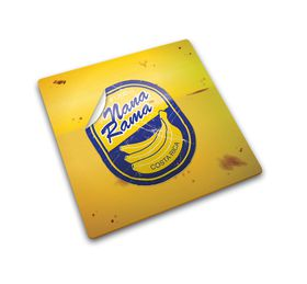 Joseph Joseph - Worktop Saver Glass Chopping Board - Banana Sticker Design