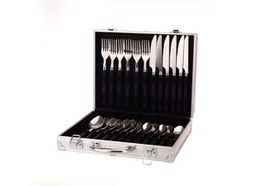 OZtrail - 24pc Stainless Steel Cutlery Set