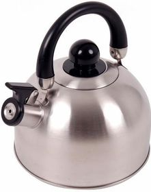 Oztrail - Whistling Kettle 2.5 Litre - Silver