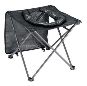 OZtrail - Toilet Chair + Flap 120kg - Black