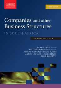 Companies and other Business Structures in South Africa 3rd Edition
