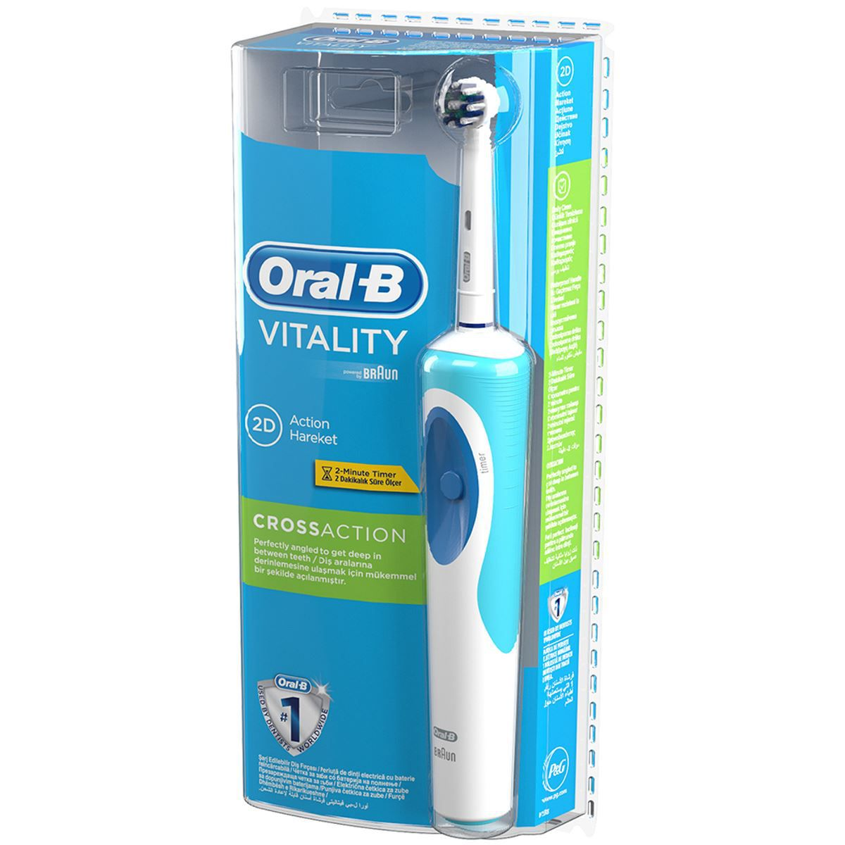 oral b oral b vitality crossaction electric toothbrush. Black Bedroom Furniture Sets. Home Design Ideas