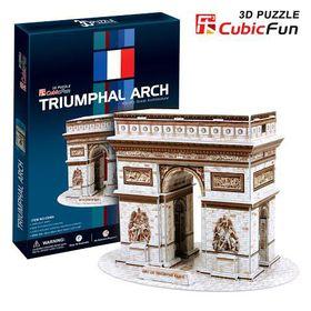 Cubic Fun Triumphal Arch France - 26 Piece 3D Puzzle