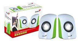 Genius S115 Compact Portable Speakers - White