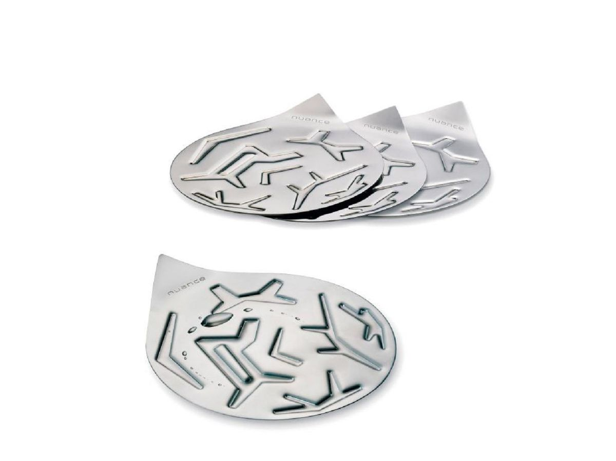 nuance  set of  stainless steel coasters  silver  n  - nuance  set of  stainless steel coasters  silver