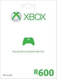 Xbox Live Gift Card R600