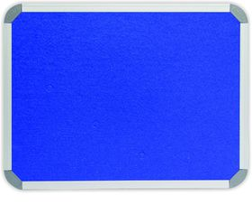Parrot Info Board Aluminium Frame - Royal Blue Felt (1500 x 1200mm)