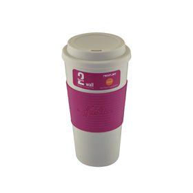 Neoflam - 500ml Double Walled Travel Mug - Pink
