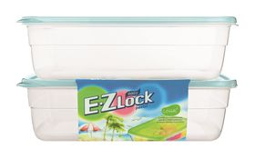 Lock and Lock - EZ Lock - 2 Piece Rectangular Container Set - Blue - 2.7 Litre