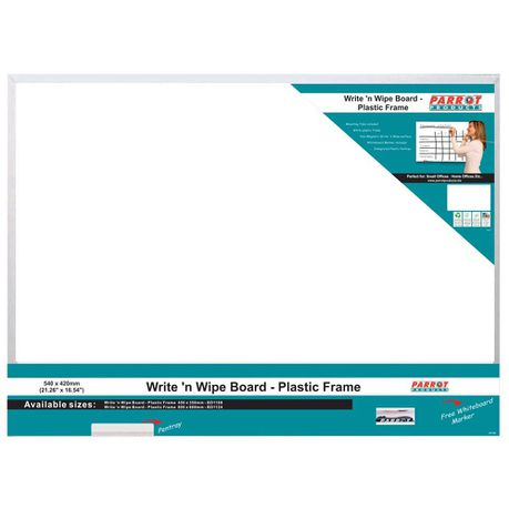 Parrot Write N Wipe Board With Plastic Frame 540 X 420mm Buy