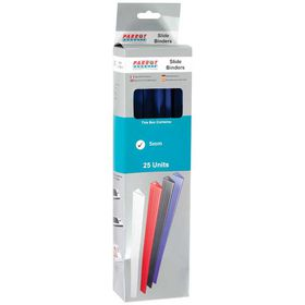 Parrot Slide Binders A4 5mm - Blue (Pack of 25)