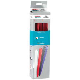 Parrot Slide Binders A4 10mm - Red (Pack of 25)