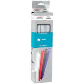 Parrot Slide Binders A4 10mm - White (Pack of 25)