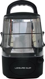 LeisureQuip - Ultimate Slim Line Rechargeable Lantern - Black