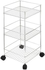 Steelcraft - Bathroom Stand On Castors - 3 Tier