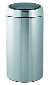 Brabantia - Twin Bin - 2 x 20 Litre  - Matt Steel