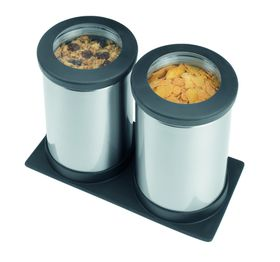 Brabantia - Clear Top Canister Set - Matt Steel