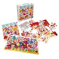 Busy Box for Girls- Book and Jigsaw Puzzle Set
