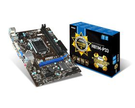 MSI Intel H81M-P33 H81 Chipset Motherboard - Socket 1150
