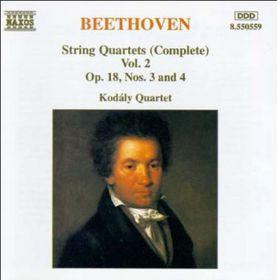 Beethoven - String 4Tets Vol.2 Op.18,3&4 (CD)