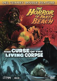 Del Tenney Double Feature: Horror at Party Beach/Curse of the Living Corpse - (Region 1 Import DVD)