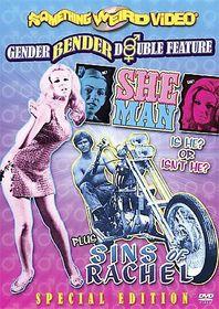 She-Man/Sins of Rachel - (Region 1 Import DVD)