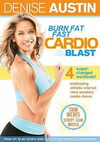 Denise Austin:Burn Fat Cardio Blast - (Region 1 Import DVD)
