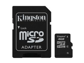 Kingston - 4GB miCro SDHC - Class 4