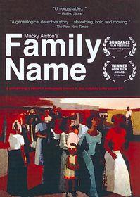 Family Name - (Region 1 Import DVD)