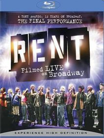 Rent:Filmed Live on Broadway - (Region A Import Blu-ray Disc)
