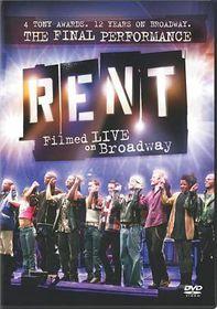 Rent:Filmed Live on Broadway - (Region 1 Import DVD)